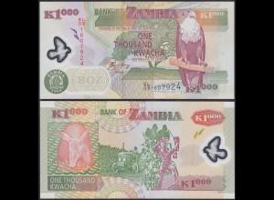 Sambia - Zambia - 1000 Kwacha 2008 Prefix EL Pick 44e - UNC = Kassenfrisch(13103