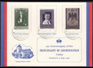 Liechtenstein 150.Souvereignty of the PRINCIPALITY Festival 1956 (22724