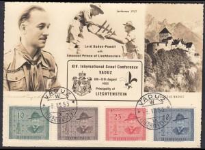 Liechtenstein 1953 International Scout Conference Pfadfinder Mi.315-18 (22725