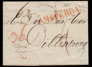 Netherlands 1825 Cover from Amsterdam to Dillenburg Germany (22761