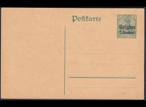 Deutsche Besatzung Belgien 5 Centimes Ganzsache 1914 Mi. P 1 * (22763