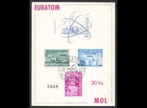 Belgien - Belgium 1961Ersttags-Karte EURATOM Mi.1255-57 (22780