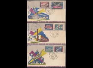 Belgien - Belgium 1958 FDC (3) Weltausstellung Mi. 1094-99 (22781
