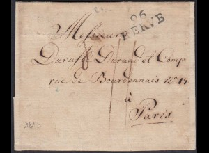 Belgien - Belgium 1813 Old Cover from 26 HERVE to Paris with content (22784