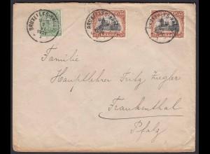 Belgien - Belgium 1921 Brief Brüssel nach Frankenthal (22820