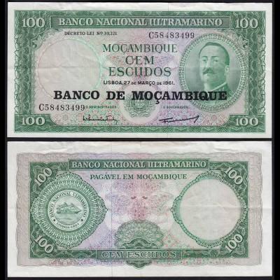 MOSAMBIK - MOZAMBIQUE 100 Escudos 1961 (1976) Pick 117 VF/XF (3/2) (22830