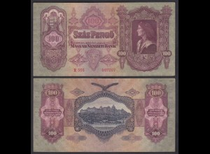 Ungarn - Hungary 100 Pengo Banknote 1930 Pick 98 gutes VF (3) (22835