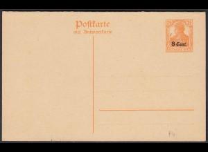 Dt. Besetzung I. WK - Etappengebiet West 1916 Ganzsache P4 * (22772