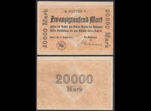 Wanne Eickel 20000 20.000 Mark Banknote 1923 F/VF (3/4) (22853