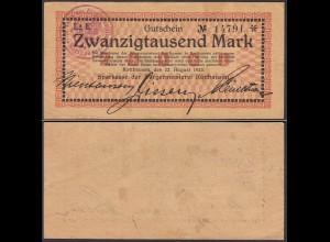 Rotthausen 20000 20.000 Mark Banknote 1923 VF (3) (22854