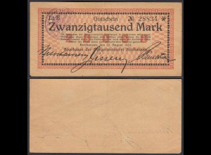 Rotthausen 20000 20.000 Mark Banknote 1923 VF (3) (22856