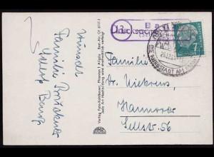 AK mit Landpost Posthilfstellen Stempel 13c Banz über Schloss Banz (8549