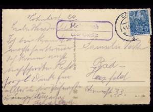 Glückwunschkarte Posthilfstelle/Landpost Hohnbach über Colditz 199 (7616