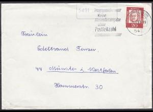 Brief Posthilfstelle, Landpost Rupppach über Montabaur nach Münster (4337
