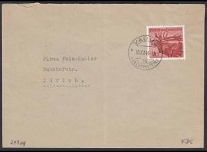 Liechtenstein 1946 Einzelfrankatur Mi. 249 Rothirsch Jagd FDC (22752