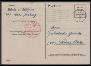 Hamburg-Harburg Jesteburg Schule 1945 Gebühr bezahlt nach Winsen