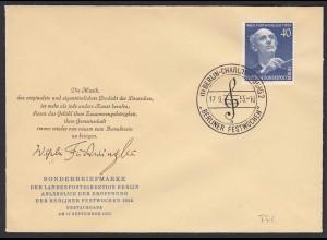 Berlin 1955 FDC Nr.128 Wilhelm Furtwängler Dirigent-Komponist (20591