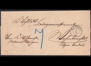 Württemberg Wangen 1870 nach Hargaz (20604