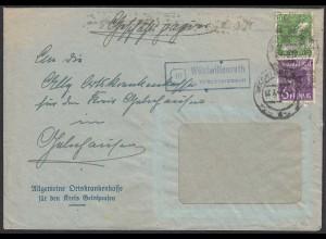 Bedarfsbrief Landpost/Posthilfstelle Wüstwillenroth über Wächtersbach (20608