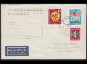 1958 Erstflug Lufthansa Par T.A.I. Paris -Papeete (Tahiti) DDR (20787