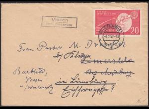 1960 Viesen über Wusterwitz nach Lüneburg Landpost/Posthilfstelle (20624