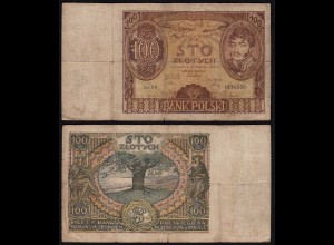 Polen - Poland 100 Zlotty Banknote 1934 Pick 75 used (22434