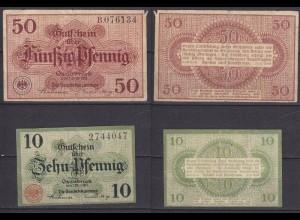 Niedersachsen - Osnabrück 10 + 50 Pfennig Notgeld 1917 + 1921 (10648
