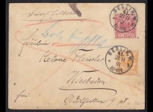 Deutsches Reich 1891 Eil-Brief Mi.47b + 49a gepr.Zenker (13425
