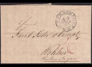 Thurn & Taxis 1837 Brief Frankfurt nach Wohlen Schweiz mit Inhalt (16015
