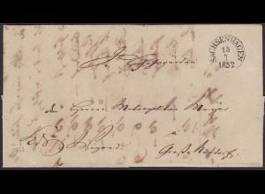 Thurn & Taxis 1852 Brief Sachsenhagen nach Nenndorf mit Inhalt (16017