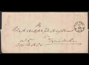 Thurn & Taxis 1854 von Vilbel - Frankfurt Hanau Windecken mit Inhalt (16018