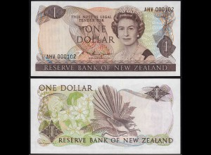 Neuseeland - New Zealand 1 Dollar UNC Pick 169b Serien-NR. ANV 000102