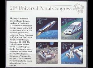 USA Block 23 ** Raumflugzeug Mondauto Raumgleiter Luftkissenfahrzeug 1989 (12889