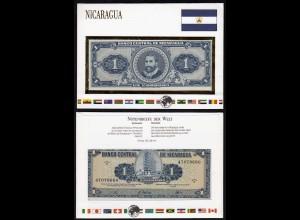 NICARAGUA 1 Cordoba Banknotenbrief der Welt UNC 1968 Pick 115 (15493