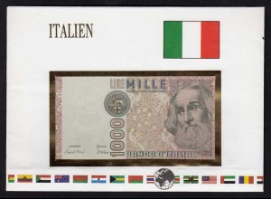 Italien - Italy 1000 Lire 1982 Banknotenbrief der Welt UNC Pick 109a (15488