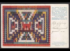 AK Chemniz Teppich aus Achselkappen 1907 in Besitz d.Kronprinzen (22897