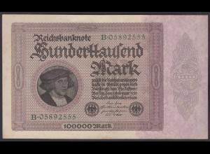 Reichsbanknote 100.000 Mark 100-tausend 1923 Ros.82a XF (2) (22899