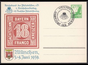 3.Reich Privat-Ganzsache 1939 PP142 SST München selten (0327
