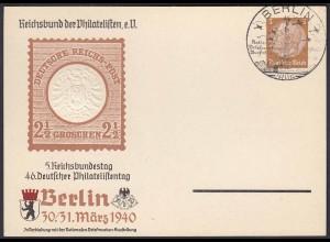 3.Reich Privat-Ganzsache 1940 PP142 SST BERLIN Prägedruck selten (22907