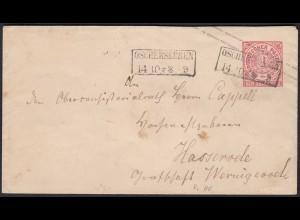 NDP Ganzsachen Umschlag 1 Groschen von Oschersleben nach Hasserode (22949
