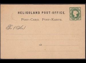 Helgoland Ganzsachen Postkarte P 1 ungebraucht Prägedruck (22970