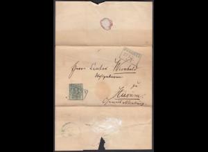 Hannover Umschlag mit 1 Ggr. Mi.Nr 2 nach Husum bei Nienburg (22977