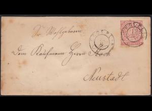 NDP - CROEPLIN 1 Groschen Umschlag nach Neustadt (22979