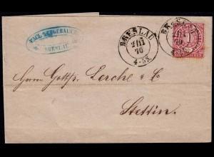 NDP 1870 1 Groschen Umschlag von Breslau nach Stettin (22992