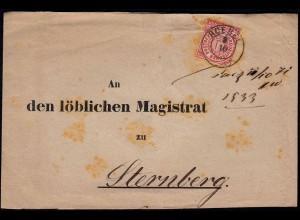 NDP - 1871 Streifband von Roebel nach Sternberg (23002