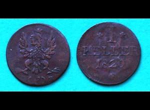 Frankfurt Altdeutsche Staaten 1 Heller Münze 1820 (22915