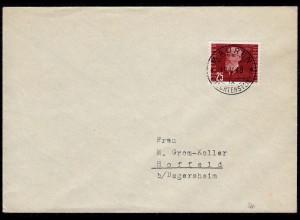 Liechtenstein 1948 Brief Mi.260 EF Mauren - Hoffeld Fr. Kress (23027