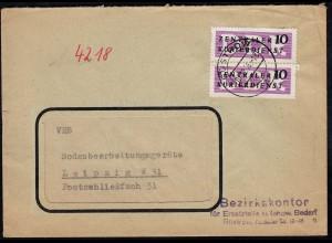 DDR ZKD 1956 Brief Ersatzteile landw.Bedarf Güstrow (23067