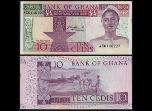 Ghana - 10 Cedis Banknote 7.02.1972 Pick 20a fast XF (2-) (23175