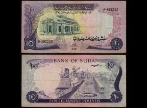 Sudan - 10 Pounds Banknote 1975 Pick 15b F/VF (3/4) (23189